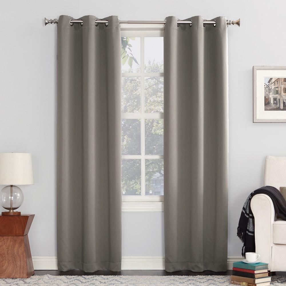 Kenneth Blackout Energy Efficient Grommet Curtain Panel Gray 40
