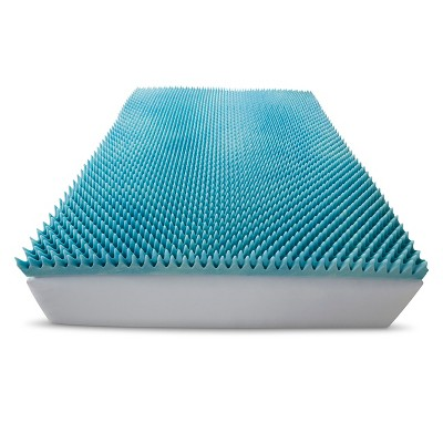 ComforPedic Loft from Beautyrest 3  Gel Textured Memory Foam Topper - White (King)