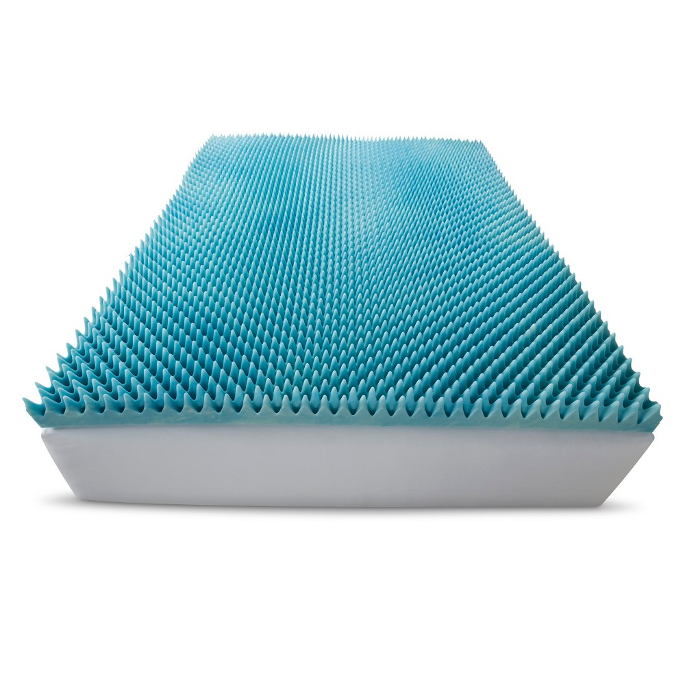 "Image of ""ComforPedic Loft from Beautyrest 3"""" Gel Textured Memory Foam Topper - White (California King)"""