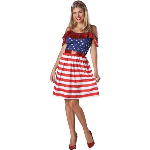 Women's Americana Flag Dress Costume- Spritz™ - image 1 of 1