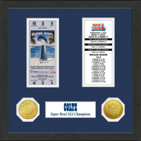 47941744d NFL Indianapolis Colts Super Bowl Championship Ticket Collection ...