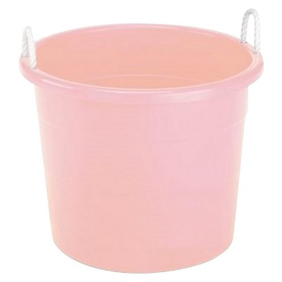 Plastic Storage Bin with Woven Handles - Pink - Pillowfort™