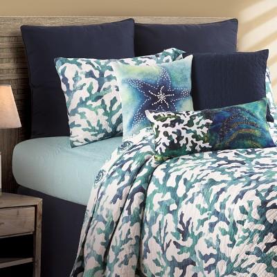 C&F Home Aqua Reef Coastal Quilt Mini Set