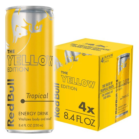Red Bull Yellow Edition Tropical Punch Energy Drink - 4pk/8.4 fl oz Cans - image 1 of 3