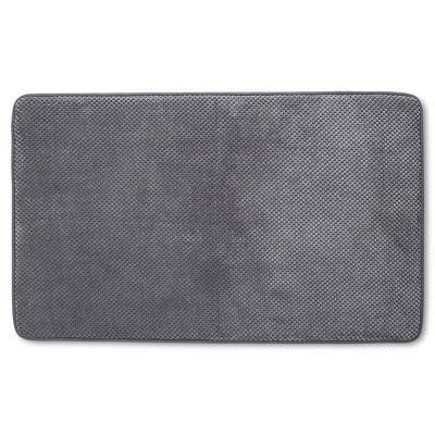 "20""x34"" Bubble Memory Foam Bath Rug Dark Gray - Threshold™"