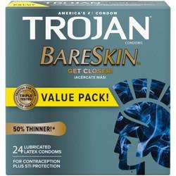 Trojan Bareskin Premium Lube Condoms