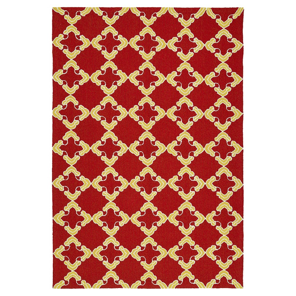 Kaleen Rugs Escape Trellis Indoor/Outdoor Area Rug - 9' Red Indoor/Outdoor x' x 12'