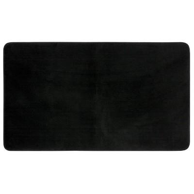 "20""x34"" Velveteen Memory Foam Bath Rug Black - Room Essentials™"