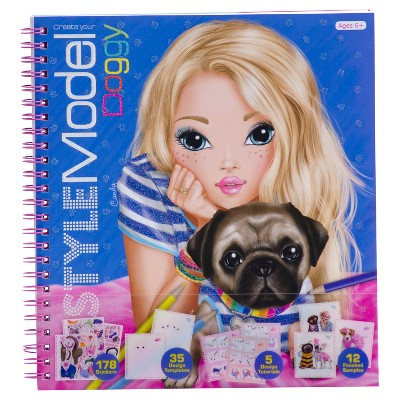Style Model Create Your Own Doggy Sketch Pad with Stencils