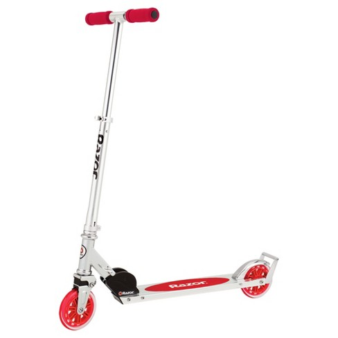 Razor A3 Kids Folding Aluminum Portable Kick Push Scooter with Wheelie Bar, Red - image 1 of 4
