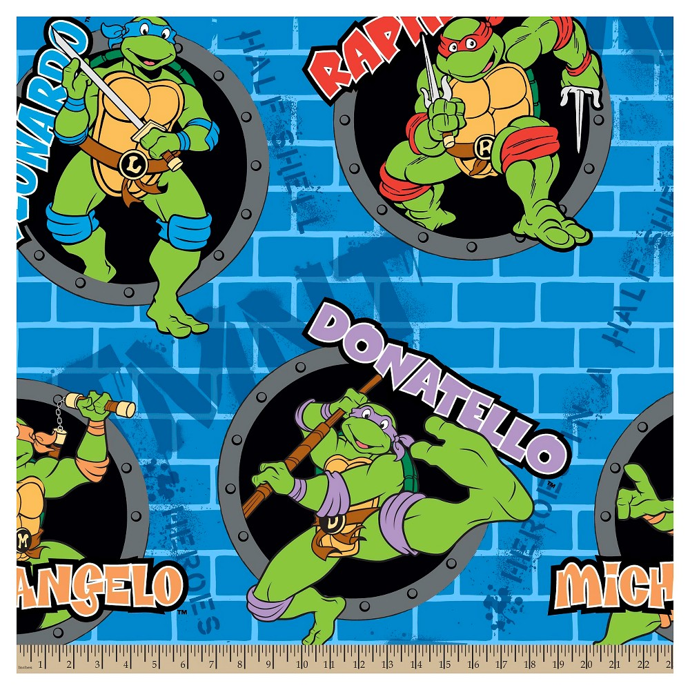 Image of Teenage Mutant Ninja Turtles Power Holes Fleece Fabric