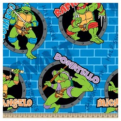 Teenage Mutant Ninja Turtles Power Holes Fleece Fabric