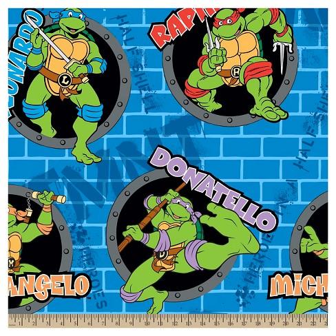 Teenage Mutant Ninja Turtles Power Holes Fleece Fabric - image 1 of 1