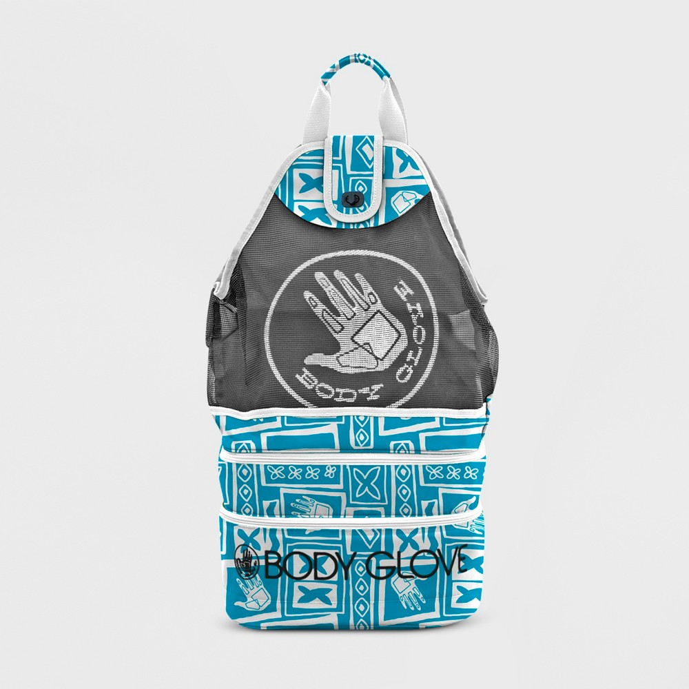 Image of Expandable Beach Cooler Tote - Blue Tiki - Body Glove
