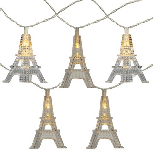 Kurt S. Adler Set of 10 LED Eiffel Tower Battery Operated Novelty Christmas Lights - image 1 of 1