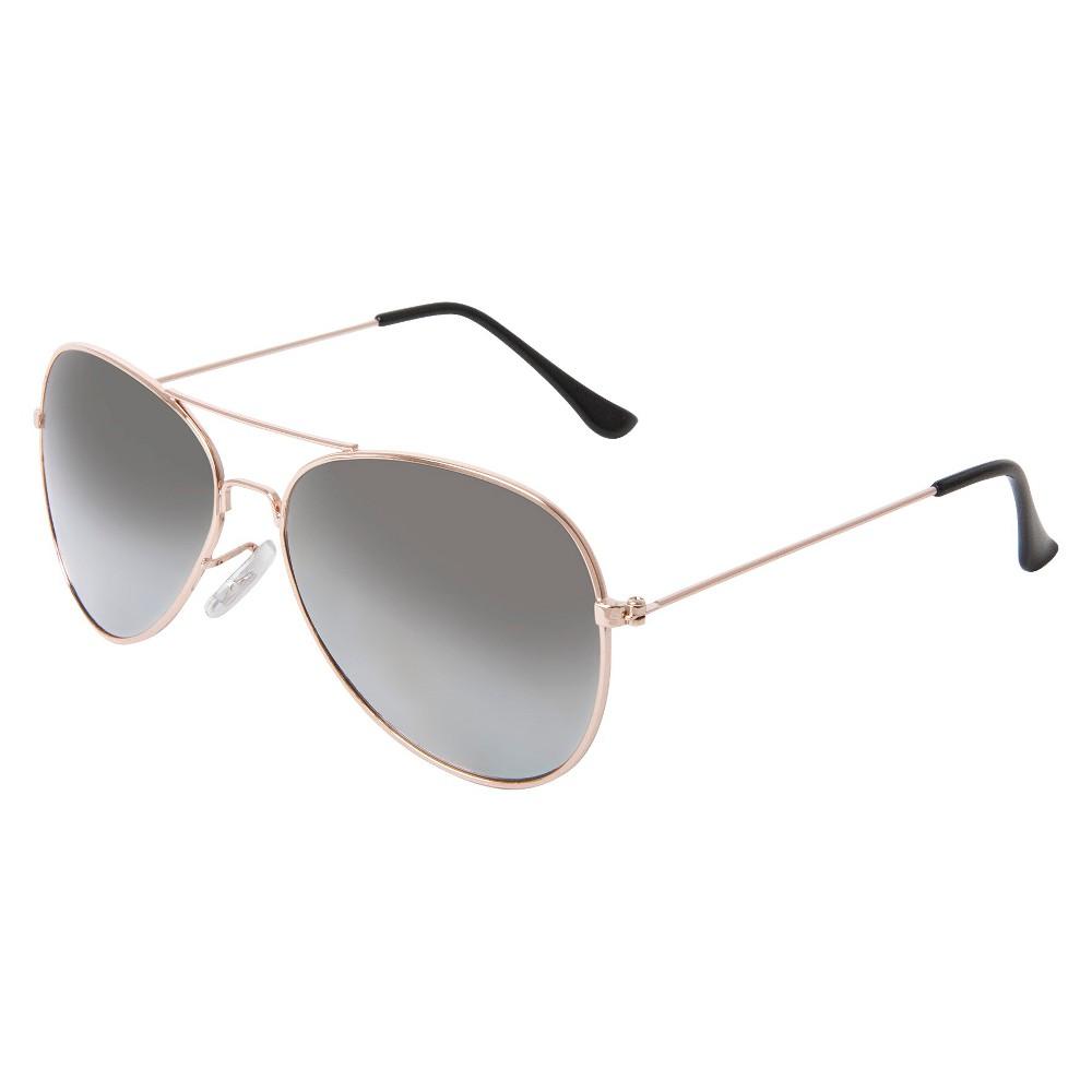 Women's Aviator Sunglasses- Gold