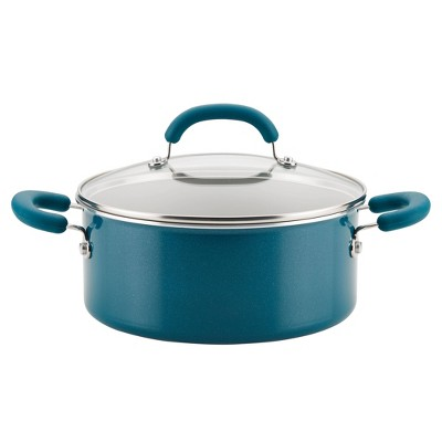 Rachael Ray Create Delicious 5qt Aluminum Nonstick Dutch Oven with Lid Teal