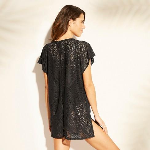 8a86a56ff2604 Women's Lace Tie Front Kaftan Cover Up - Xhilaration™ Black : Target