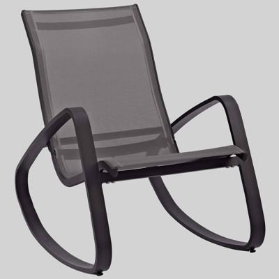 Traveler Rocking Outdoor Patio Mesh Sling Lounge Chair - Modway