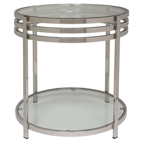 End Table Chrome - Safavieh - image 1 of 3