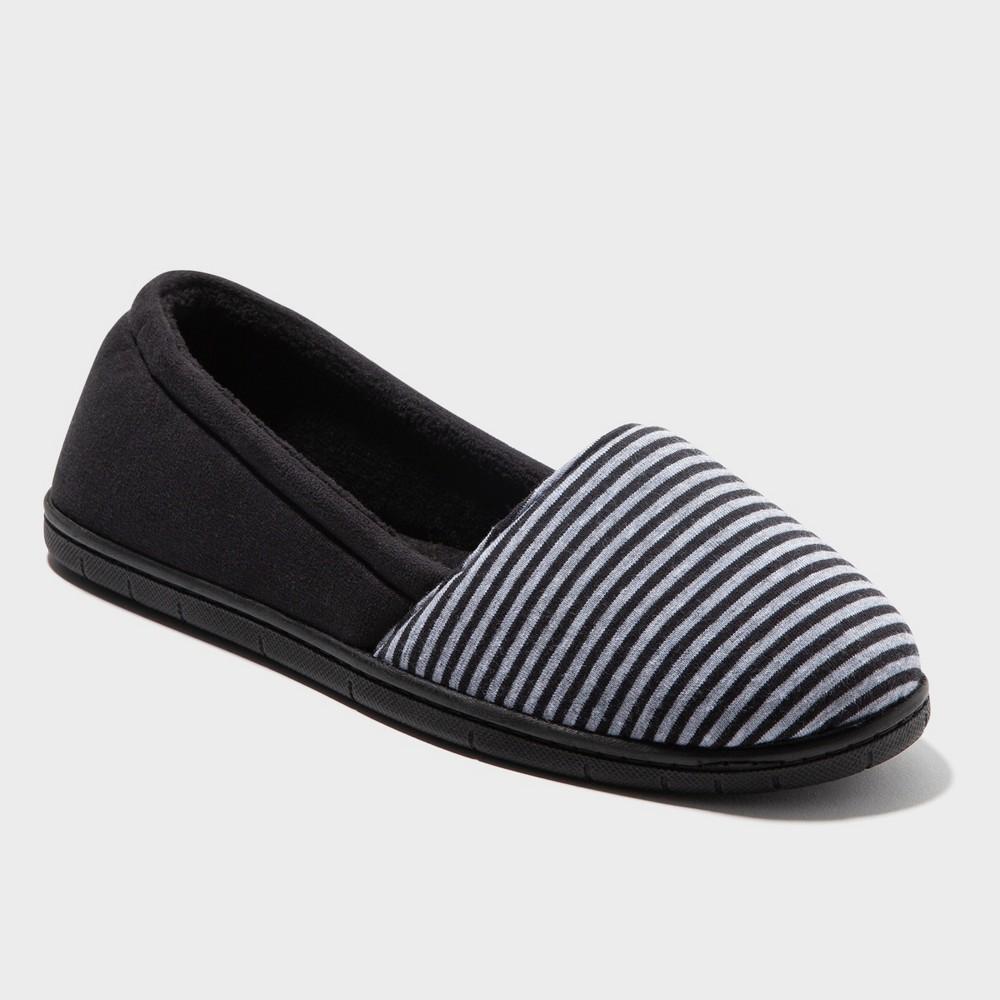 Women's Dearfoams A-Lined Slipper - Black S
