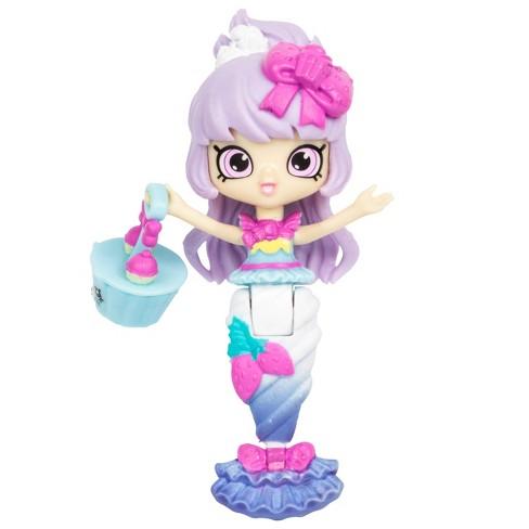 Happy Places Shopkins Mermaid Tails Berri Cakes Mermaid Doll Target