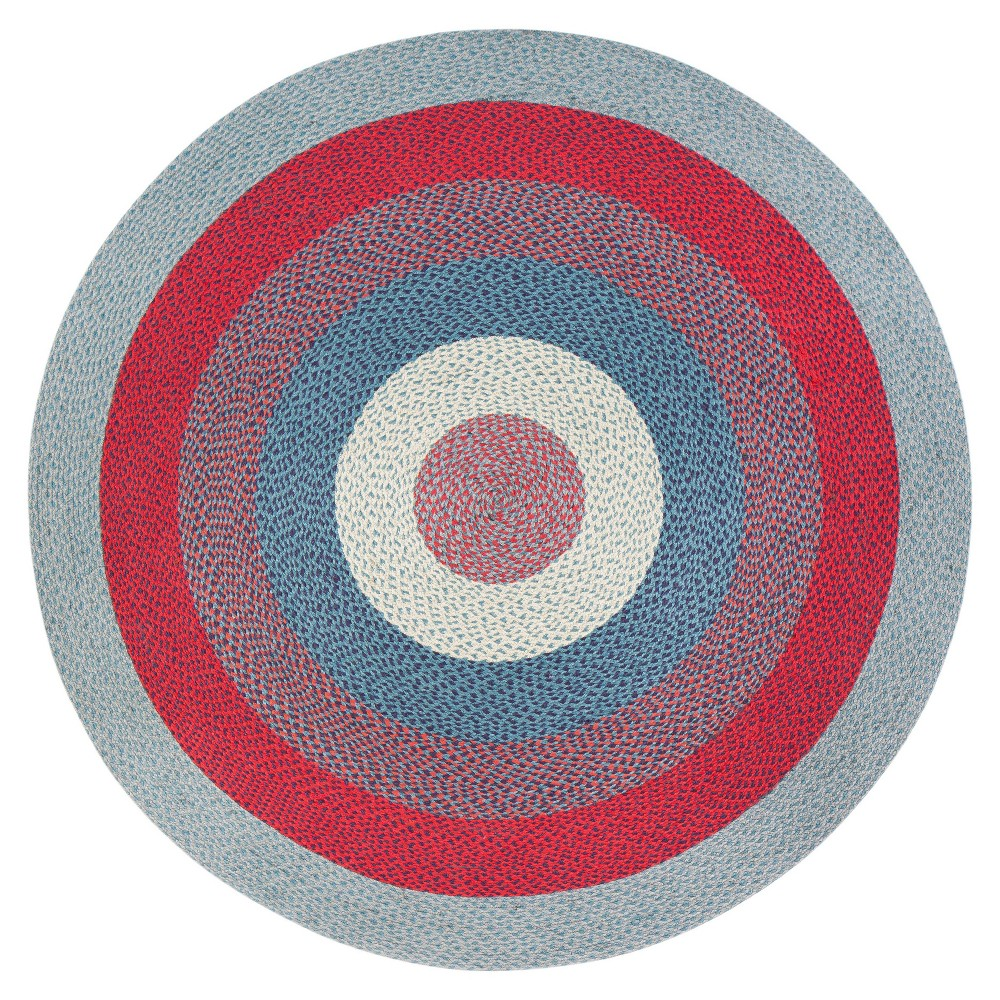 8' Round Blend Jute Rug Red/Gray - Anji Mountain 8' Round Blend Jute Rug Red/Gray - Anji Mountain Gender: unisex. Pattern: Shapes.