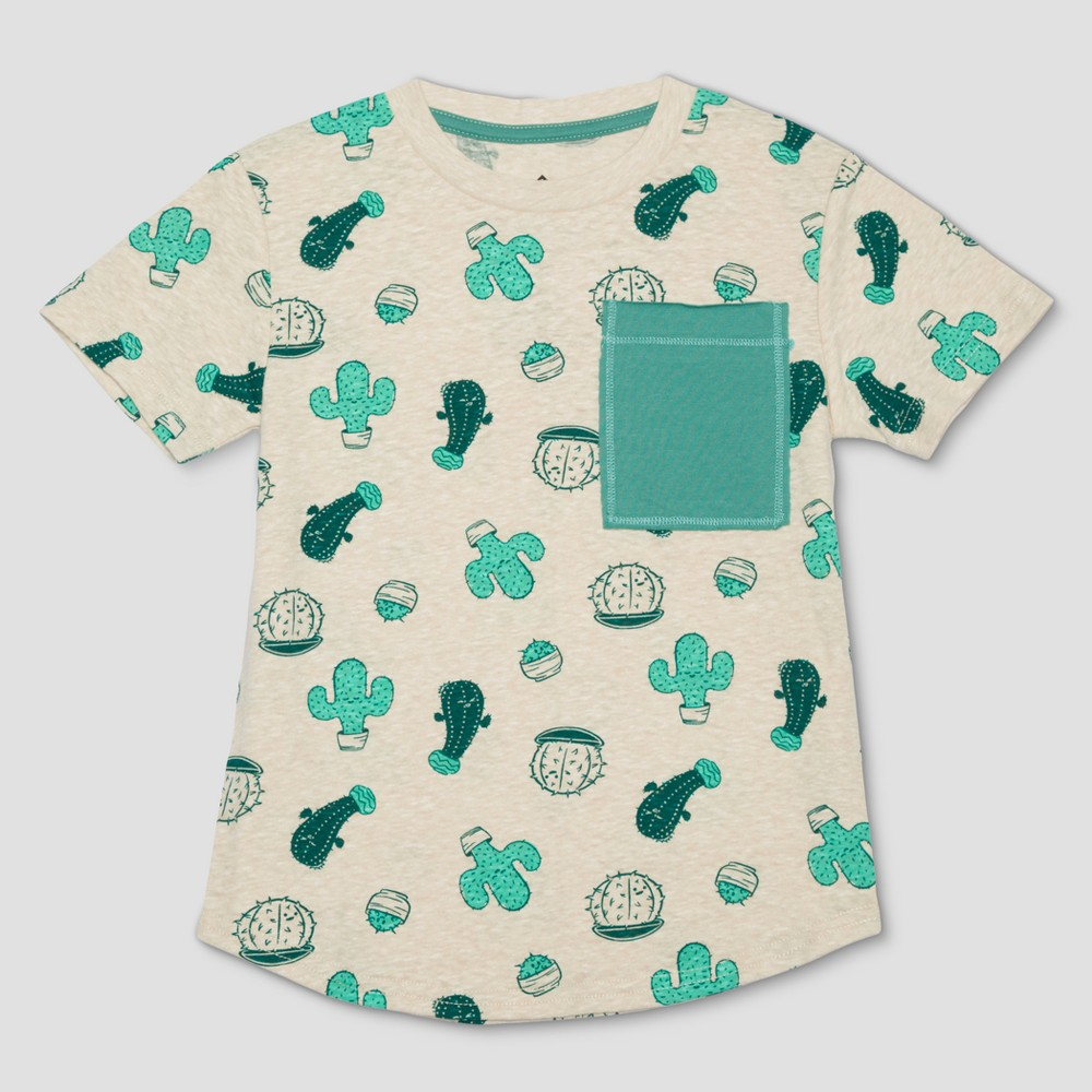 Toddler Boys' Well Worn Cactus Short Sleeve T-Shirt - Desert 3T, Beige