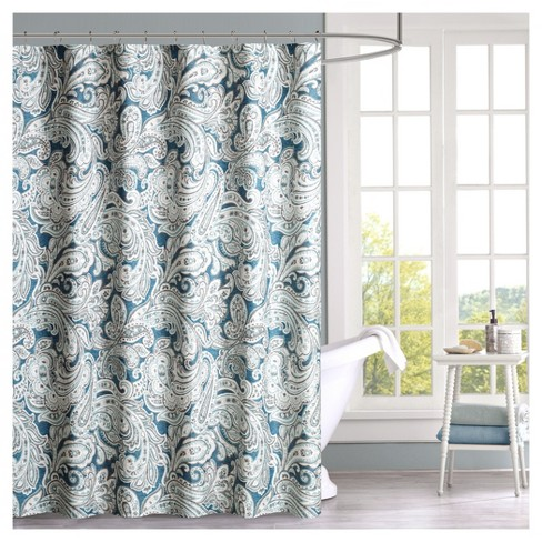 Shower Curtain Paisley Blue - image 1 of 1
