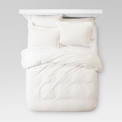 White Washed Linen Duvet Cover Set (King)- Threshold™