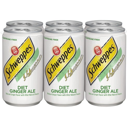 Diet Schweppes Ginger Ale - 6pk/7.5 fl oz Mini Cans - image 1 of 4