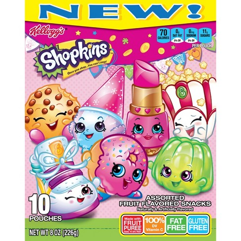 Kellogg's Shopkins Assorted Fruit Flavored Snacks - 10ct - image 1 of 5