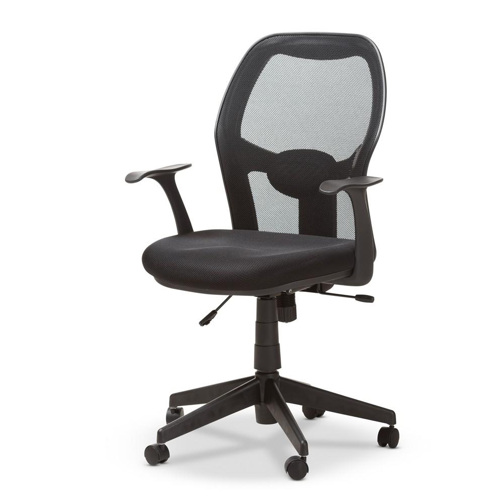 Kurber Modern and Contemporary Ergonomic Mesh Office Chair Black - Baxton Studio