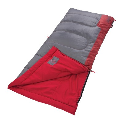 Coleman® Bannack 50 Degree Sleeping Bag - Red/Gray