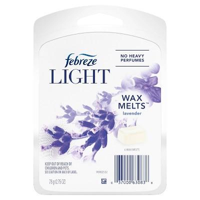 Febreze Light Odor-Eliminating Wax Melts - Lavender Scent - 6ct