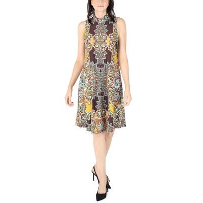 Robbie Bee | Sleeveless Mock Neck Multi Color Dress
