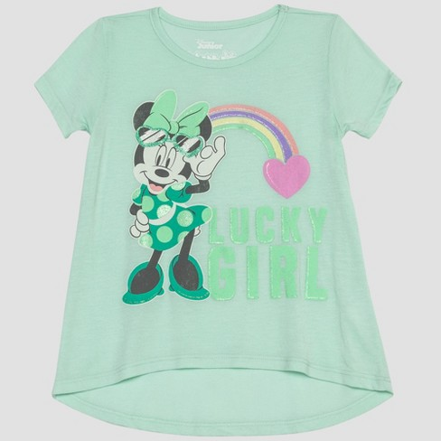 Toddler Girls' Mickey Mouse & Friends Minnie Mouse Short Sleeve T-Shirt - Green 5T - image 1 of 2