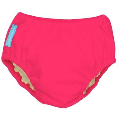 Charlie Banana Reusable Swim Diaper, Fluorescent Pink - XL