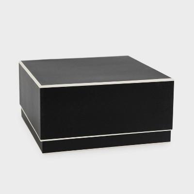 Black and Cream Edge Large Square Box - Sugar Paper™