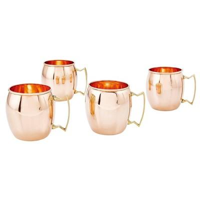 Old Dutch 16oz 4pk Copper Moscow Mule Mugs