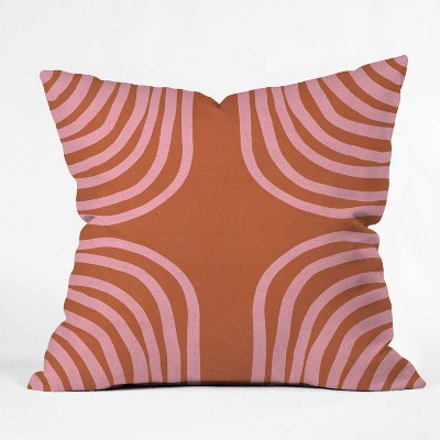 "16""x16"" Sunshine Canteen Sahara Throw Pillow Red - society6"