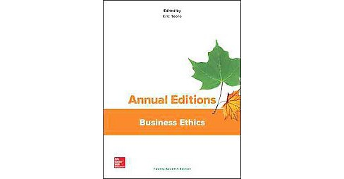 Annual Editions Business Ethics (Paperback) (Eric Teoro) - image 1 of 1