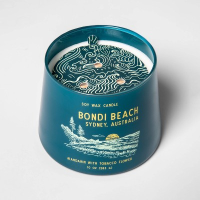 10oz Tapered Glass Jar Single Wick Candle Bondi Beach - Opalhouse™