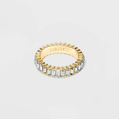 SUGARFIX by BaubleBar Baguette Crystal Statement Ring