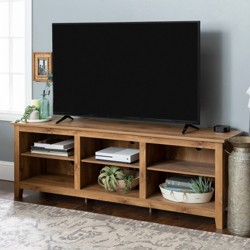 "70"" Wood Media TV Stand Storage Console - Saracina Home"