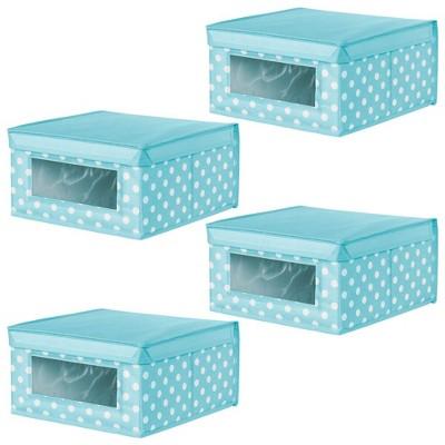 mDesign Soft Fabric Child/Kid Storage Organizer Box - 4 Pack