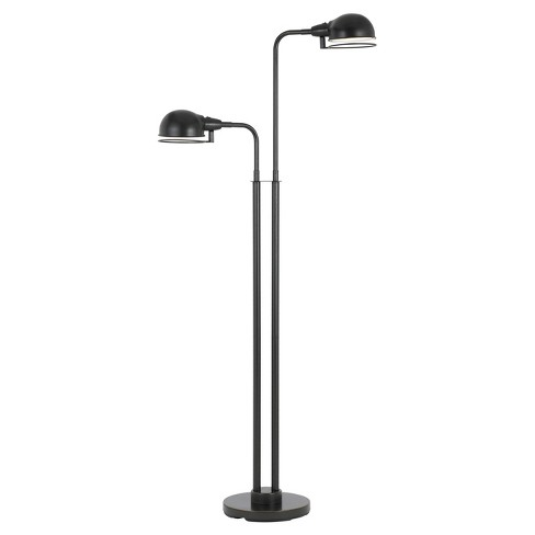 Paxton Twin LED Light Metal Floor Lamp With Swivel Shades Bronze (Includes Energy Efficient Light Bulb) - Cal Lighting - image 1 of 1