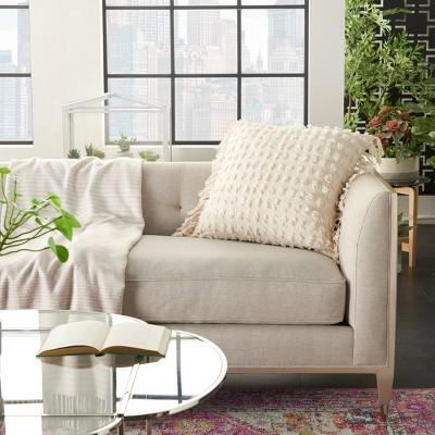 Oversize Life Styles Cut Fray Texture Throw Pillow - Mina Victory : Target