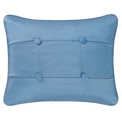 """C&F Home Colonial Williamsburg 12"""" x 16"""" Blue Carlisle Quilted Pillow"""