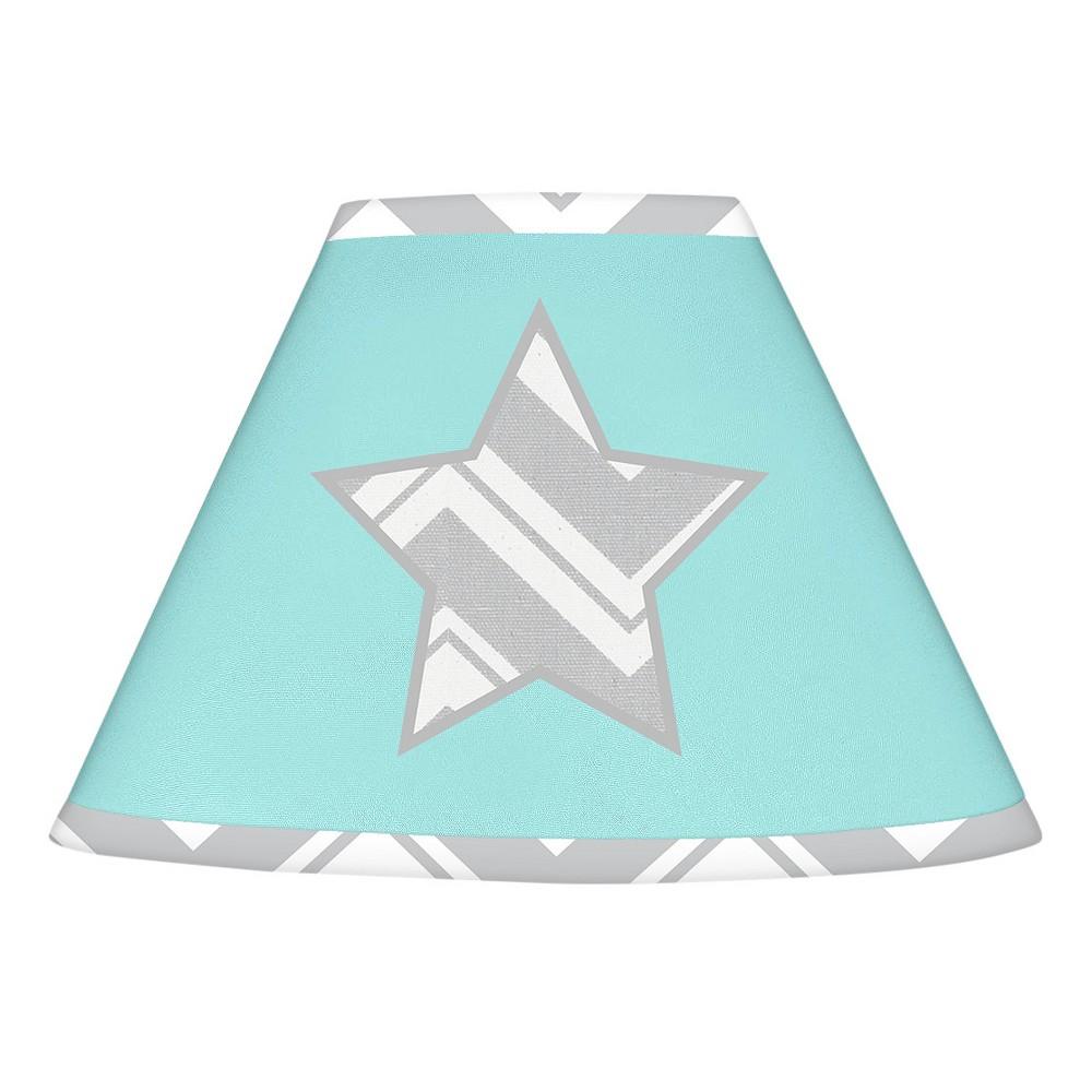 Image of Gray & Turquoise Zig Zag Lampshade - Sweet Jojo Designs
